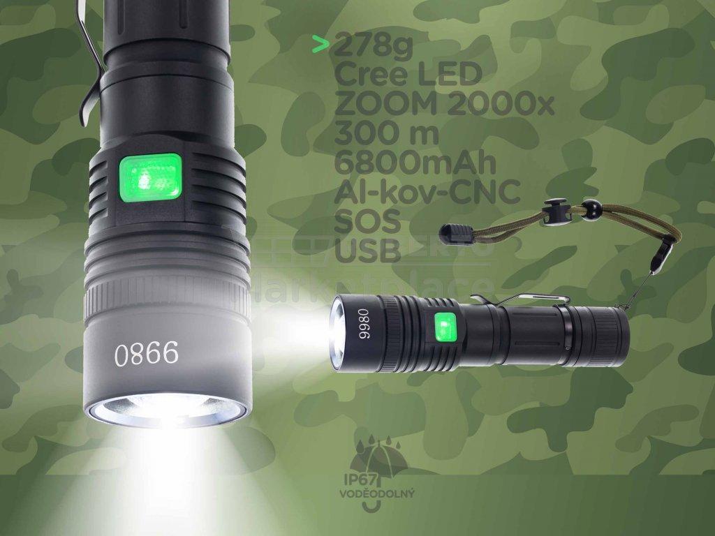 LED kapesni svitilna UltraFire cestovni f3