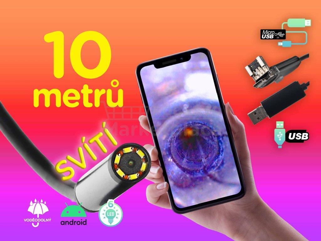 kamera 10m endoskopicka 720p HD f1b