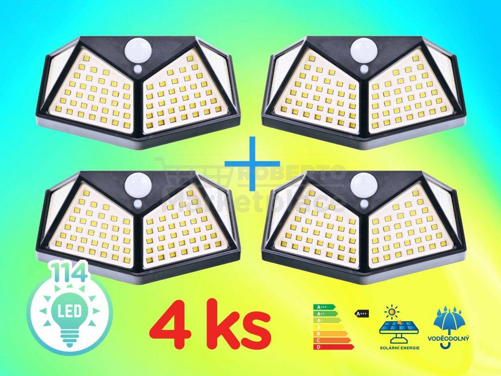 LED svetlo solarni interaktivni svetlo na zed SH 114 SMD LED 4ks f1