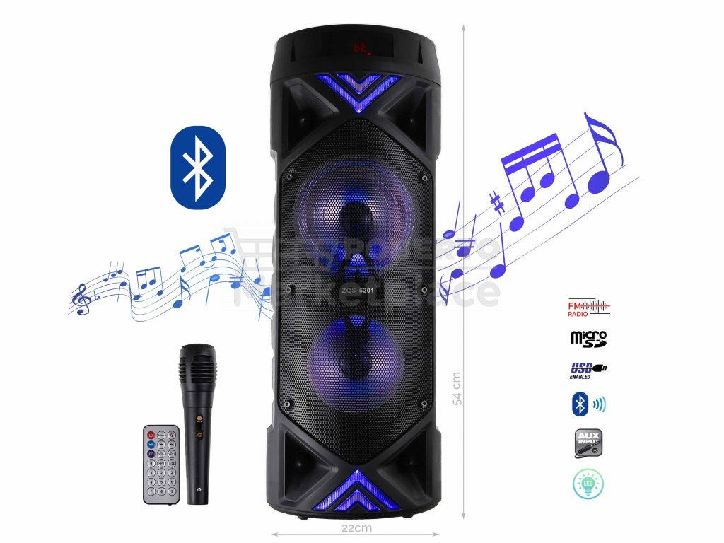 BlueTooth Speakers Model ZQS 6201 f1n