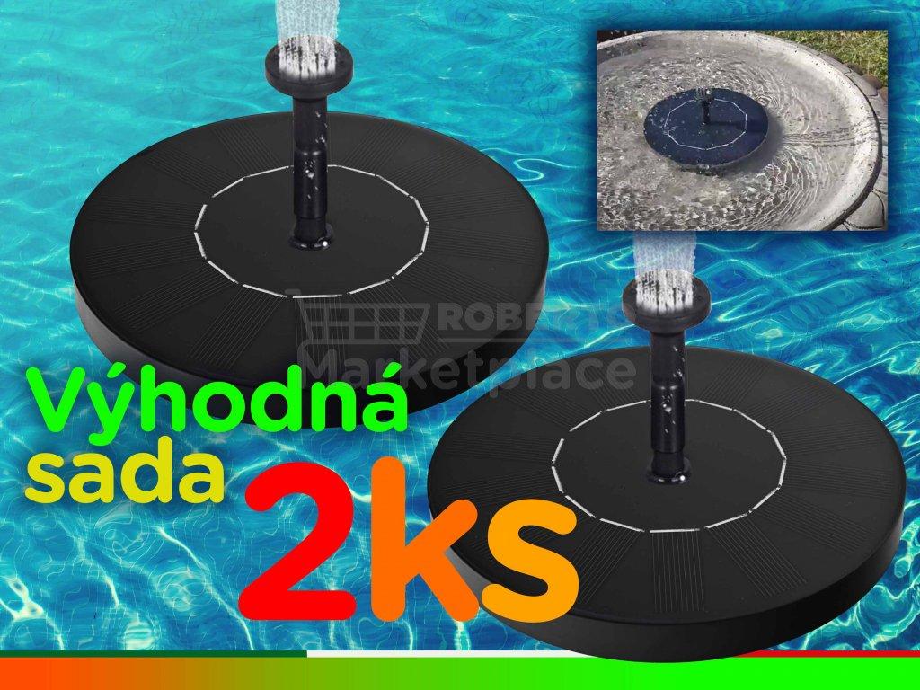 solarni plovouci vodni fontanka sada 2ks f1