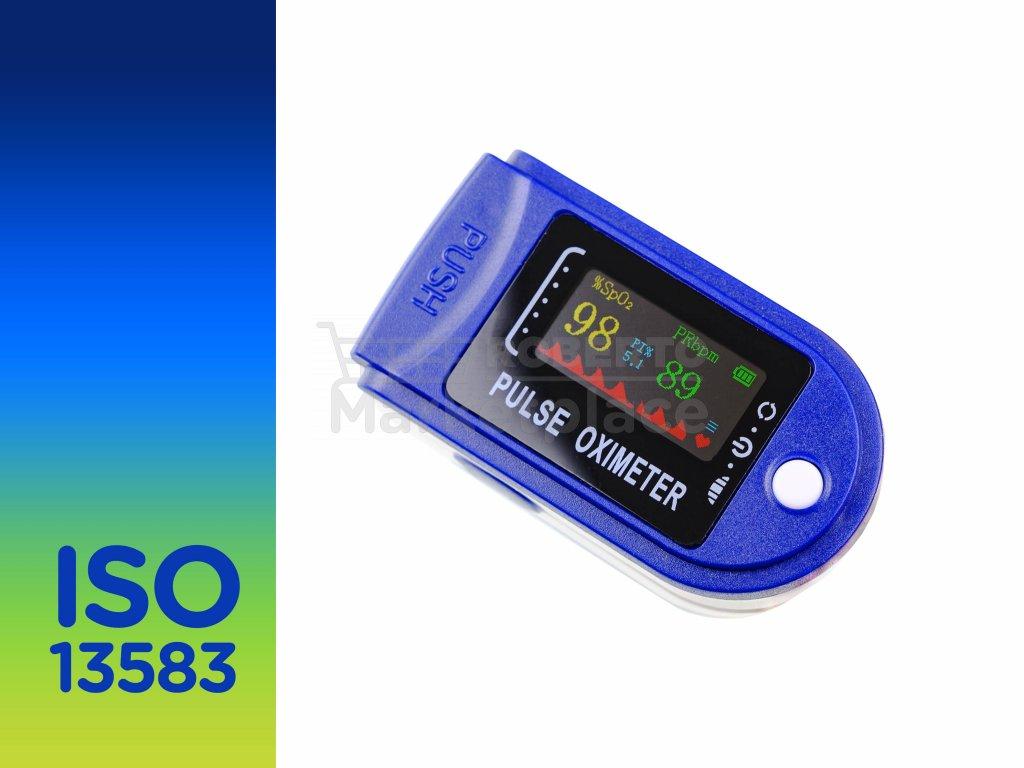 prstovy pulzni oxymetr LCD LED ISO 13583 roberto marketplace baleni f5