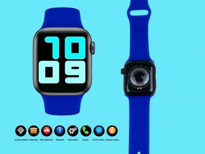 chytré hodinky 4druhy f modre