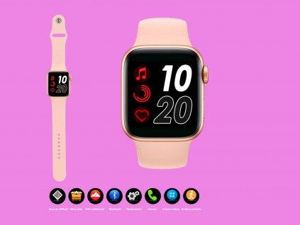 chytré hodinky 4druhy f ruzove