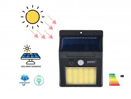 FOYU LED Solar HIGHLIGHT lampa na zed 25led f4 1ks c