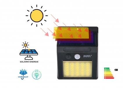 FOYU LED Solar HIGHLIGHT lampa na zed 25led f4 1ks b