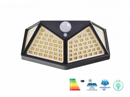LED svetlo solarni interaktivni svetlo na zed SH 114 SMD LED f1