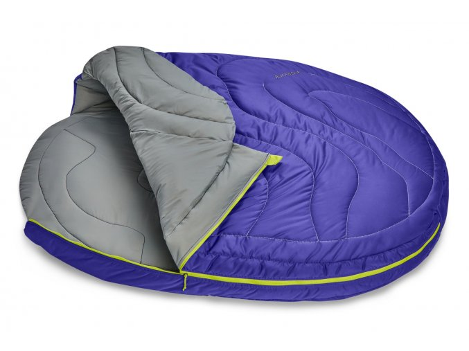 Web 10601 Highlands Sleeping Bag Huckleberry Blue Open