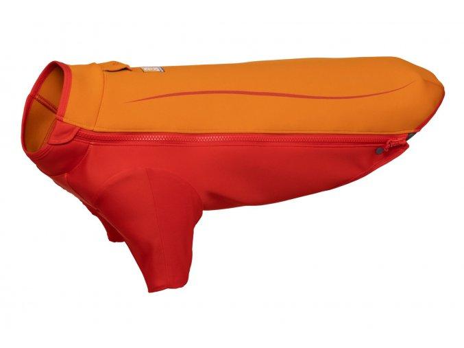 Web JPG 0535 Undercoat Water Jacket Campfire Orange Left