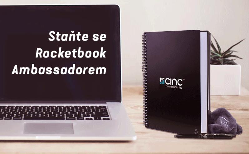 Staňte se ambassadorem Rocketbooku