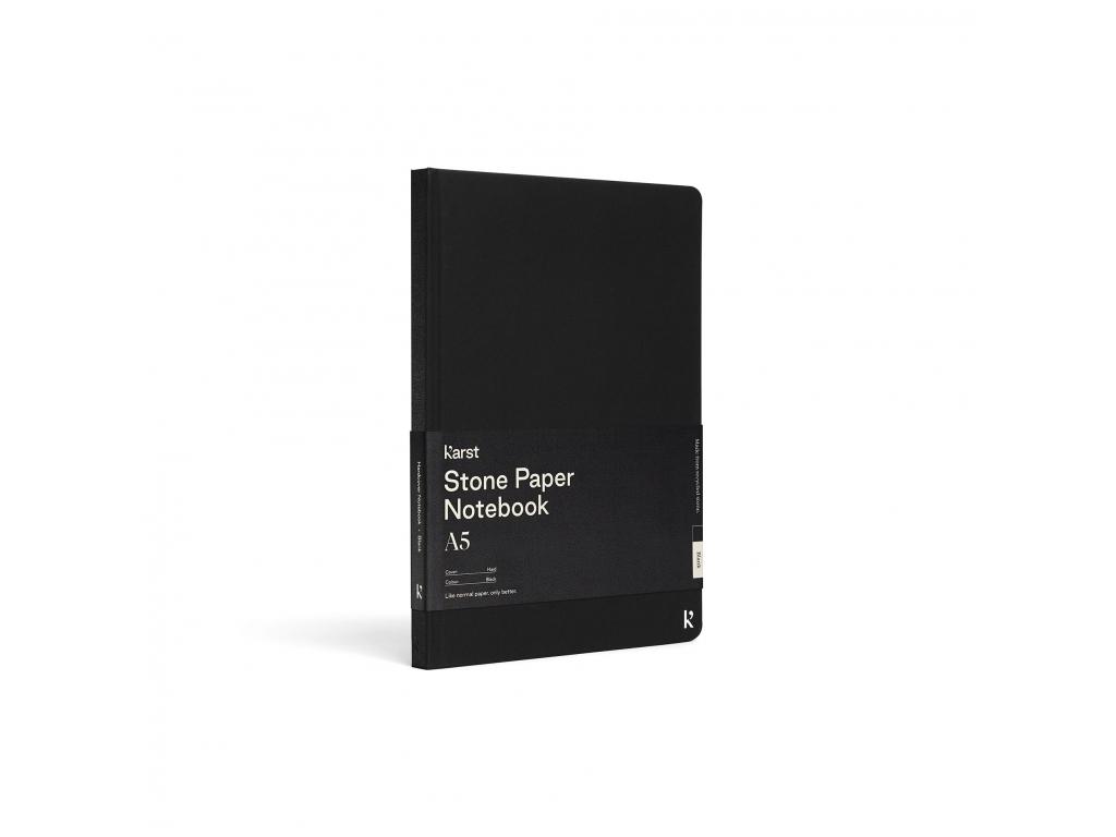 Karst HC Notebook Cover Angle Bellyband Black LR