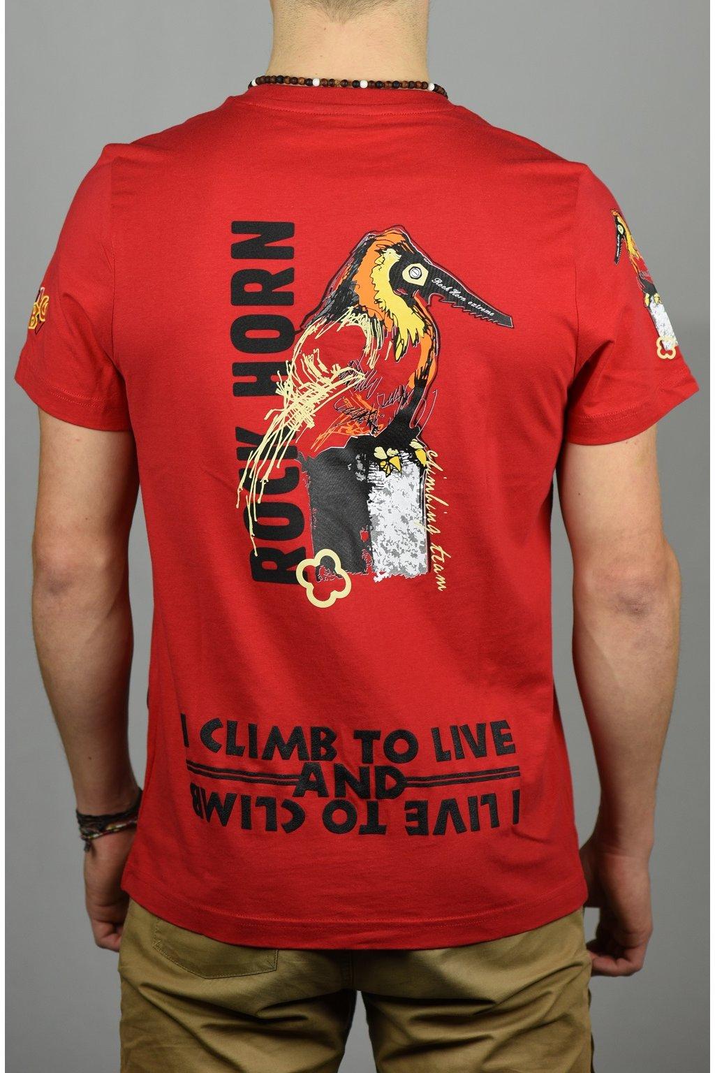 pánské triko ANIMAL / pták červená
