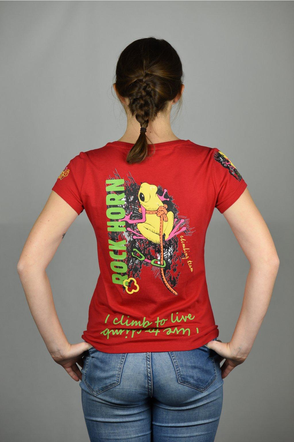 dámské triko ANIMAL LADY / žába červená