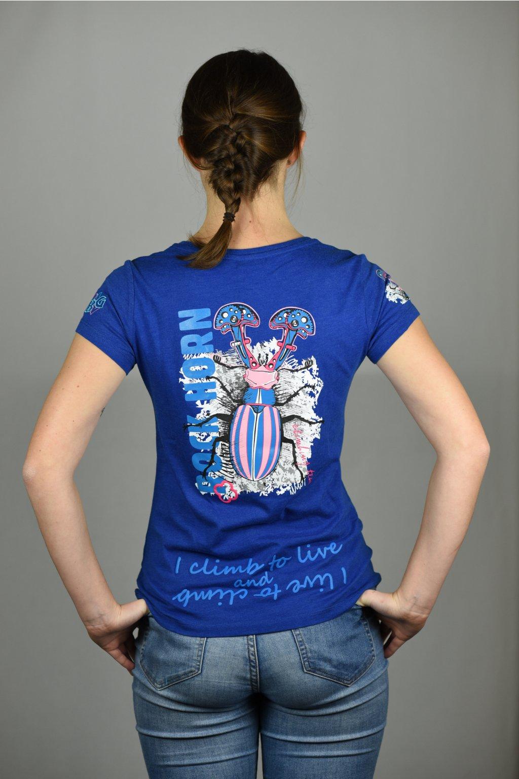 dámské triko ANIMAL LADY / brouk modrá
