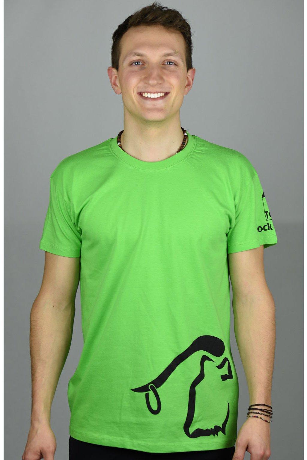 pánské triko BULL / zelená