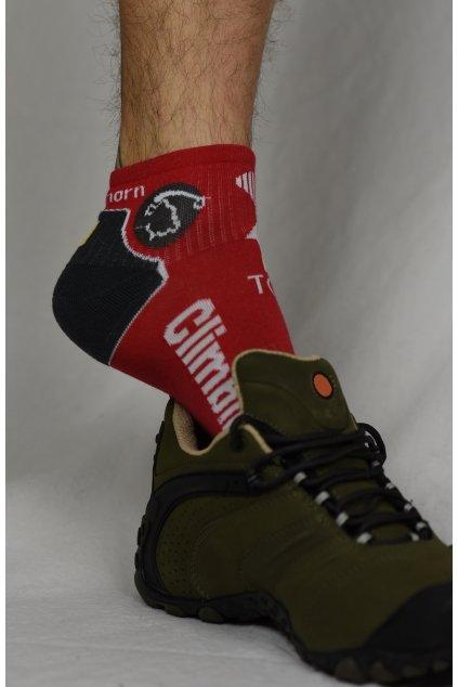 ponožky CLIMBING / červená