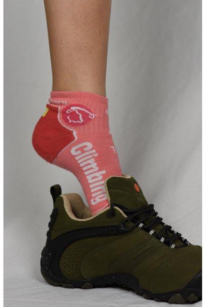 ponožky CLIMBING / lososová