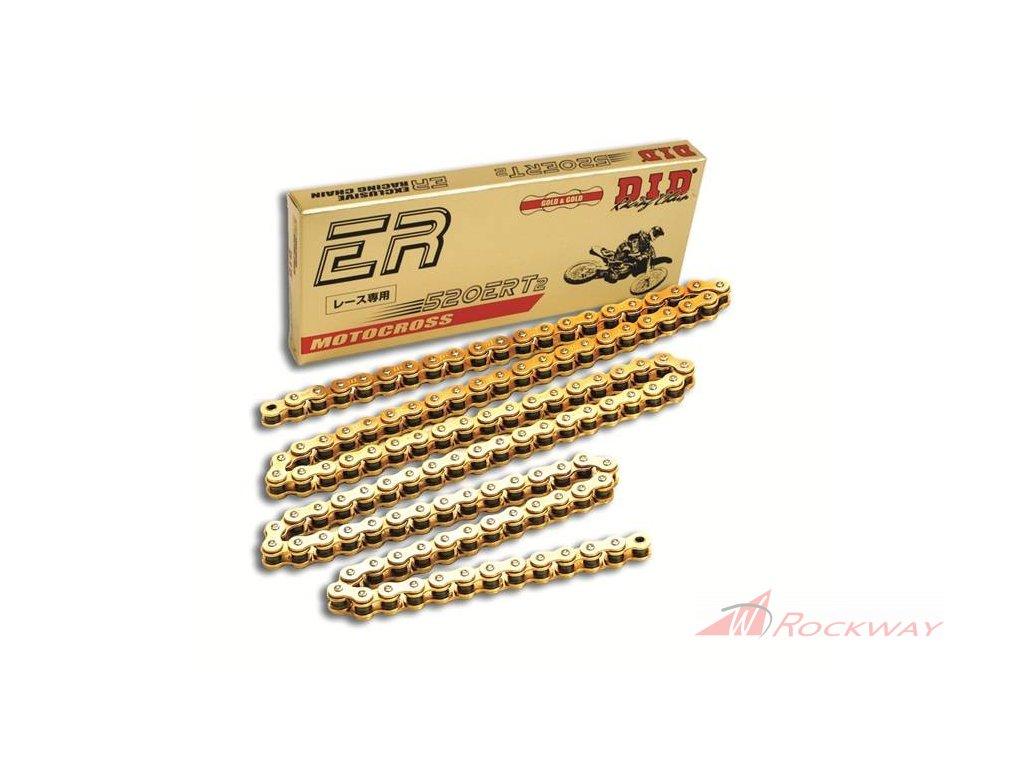 Motokrosový řetěz D.I.D Chain 520ERT2 114 L Zlatá/Zlatá