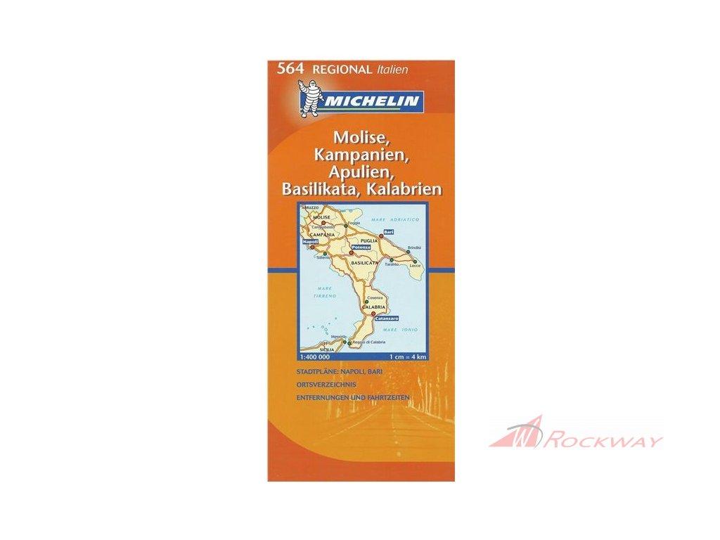 Mapa Italie Molise Kampanie Basilicata Kalabrie Rockway