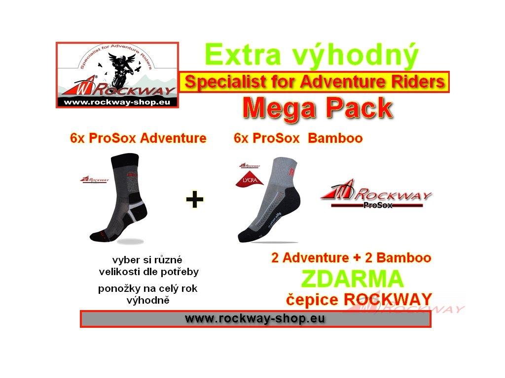 Maxi baliček ponožek ProSox + čepice - výhodná cena