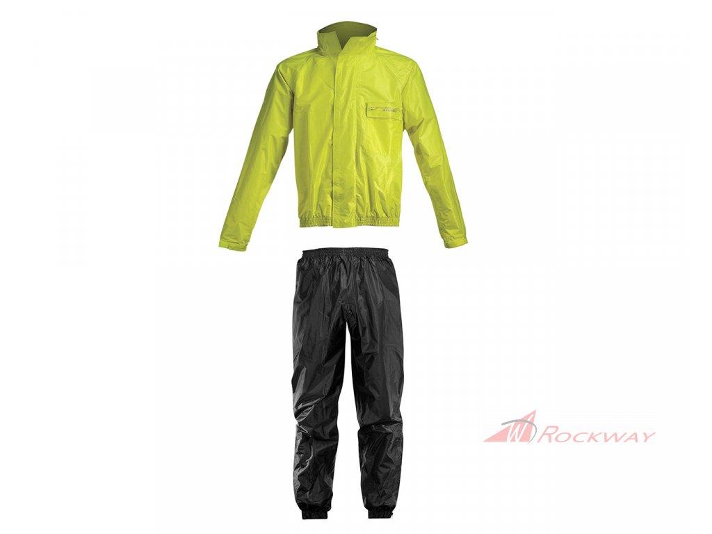 ACERBIS nepromokavý komplet do deště RAIN SUIT - černá/fluo žlutá