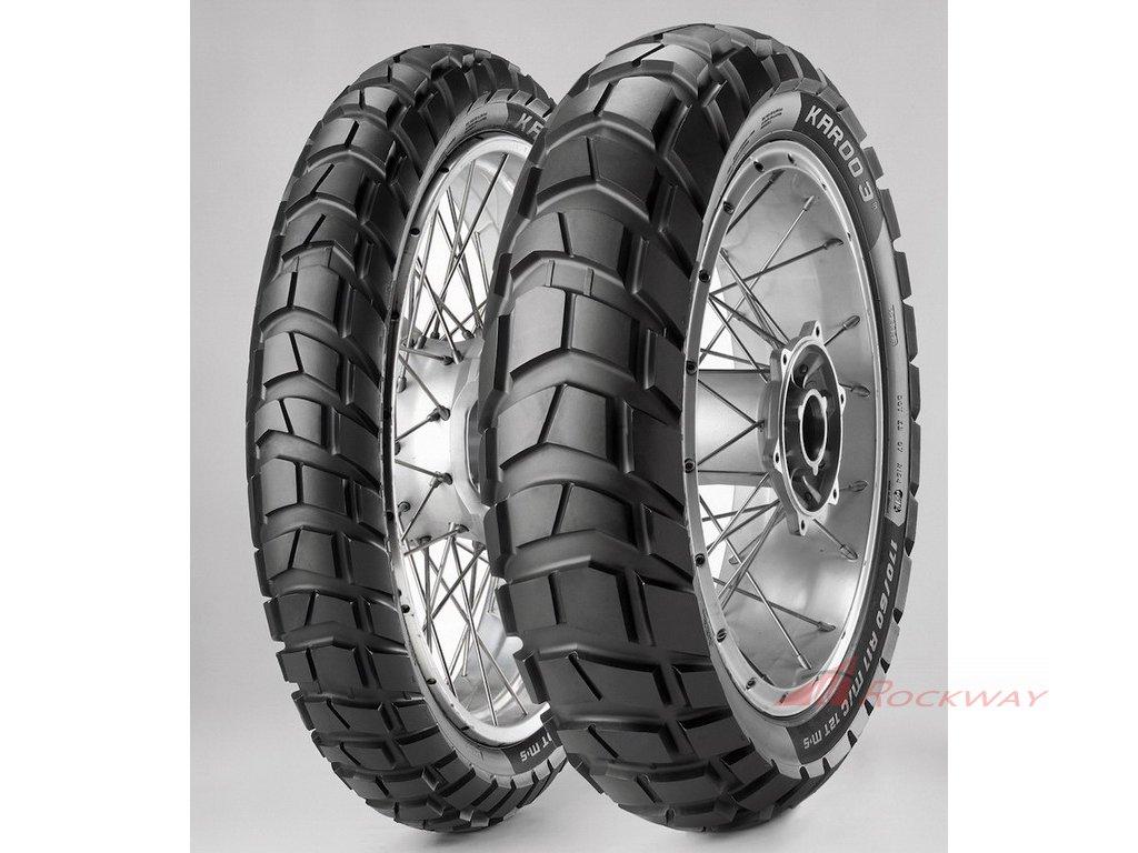 METZELER Karoo 3 - enduro pneu - AKCE sada 17+19