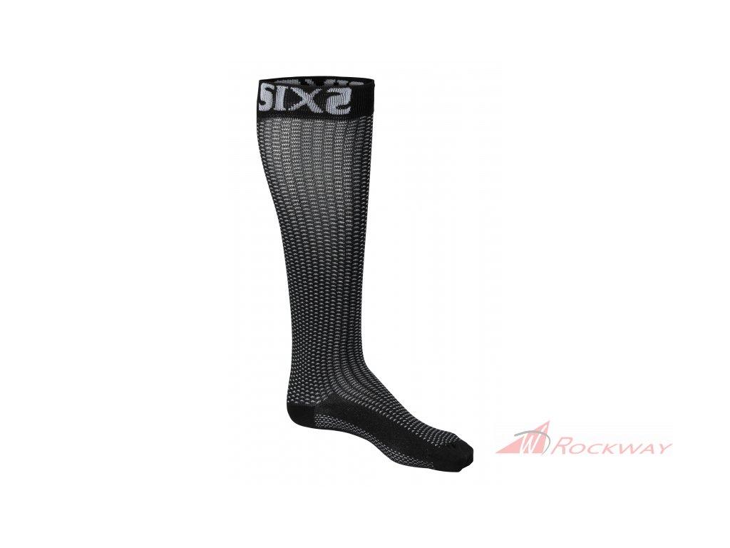 Dlouhé termo ponožky SIXS černé LONGS