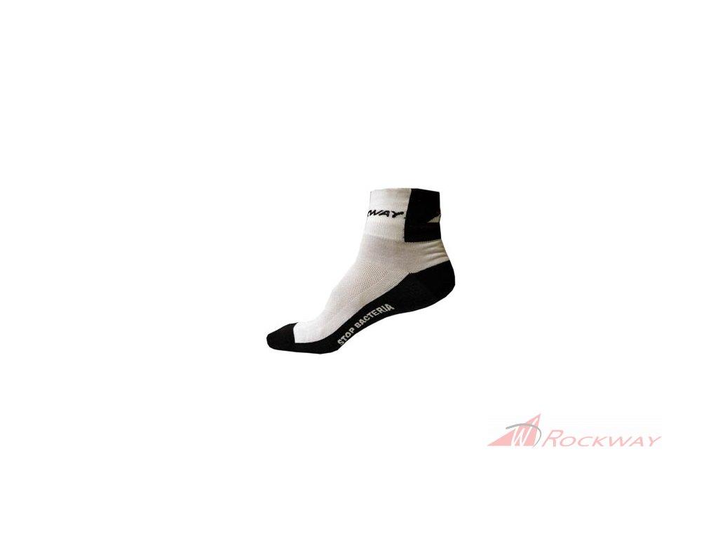 Ponožka Rockway - StopBacteria - bílá