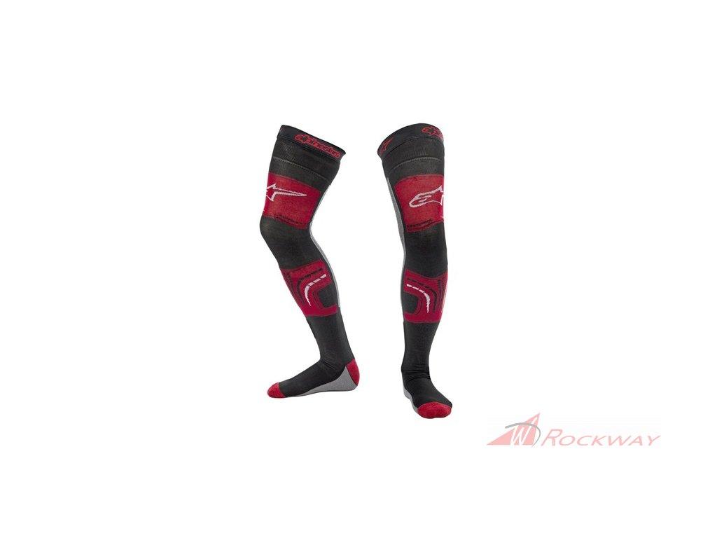 Ponožky pod ortézy KNEE BRACE 2022, ALPINESTARS (červená/šedá)