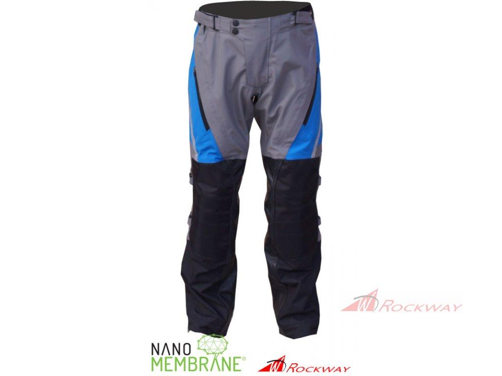 Kalhoty na motorku ROCKWAY NANOMembrane modré - ROCKWAY 8b3bed84bf