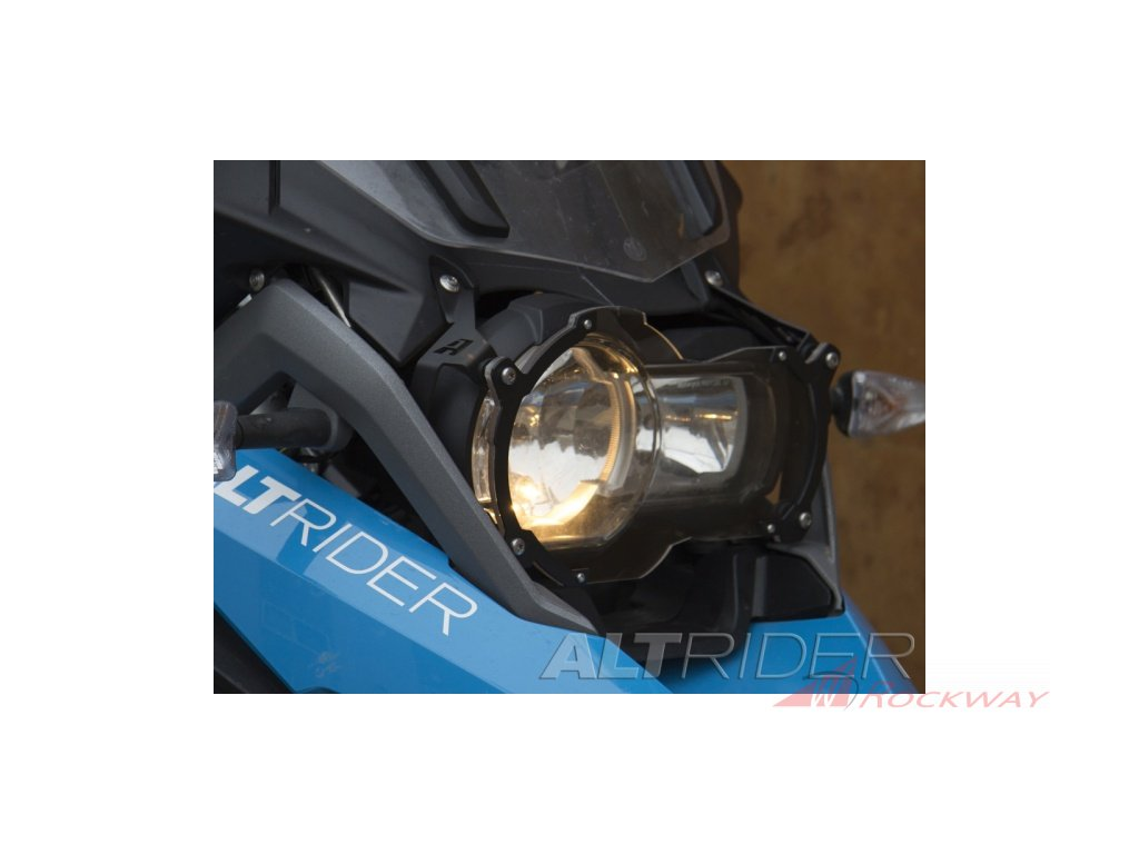 installed altrider clear headlight guard for the bmw r 1200 r 1250 gs gsa water cooled black 2