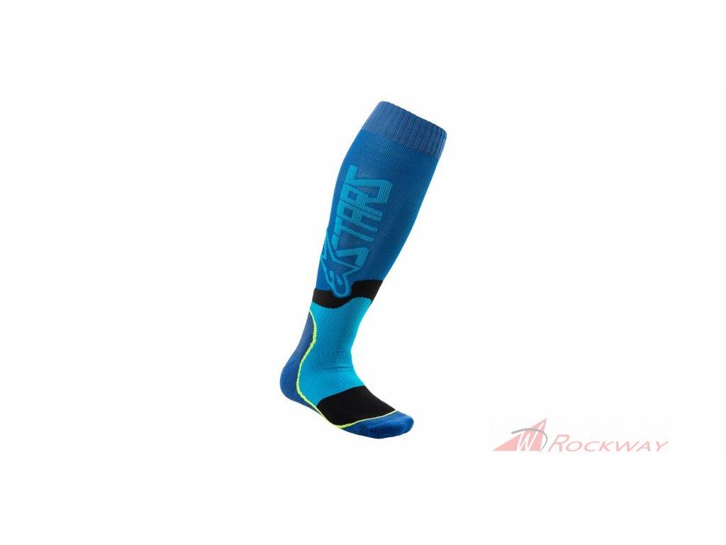Ponožky MX PLUS-2 2021, ALPINESTARS (modrá/tyrkysová)