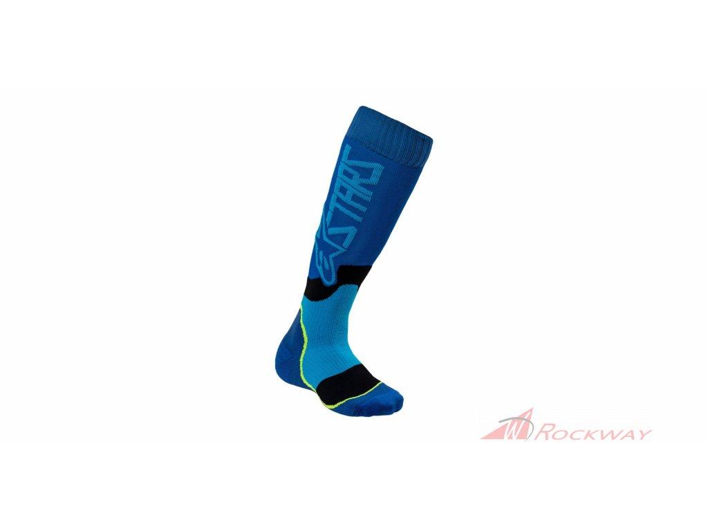 Ponožky MX PLUS-2 2021, ALPINESTARS, dětské (modrá/tyrkysová)