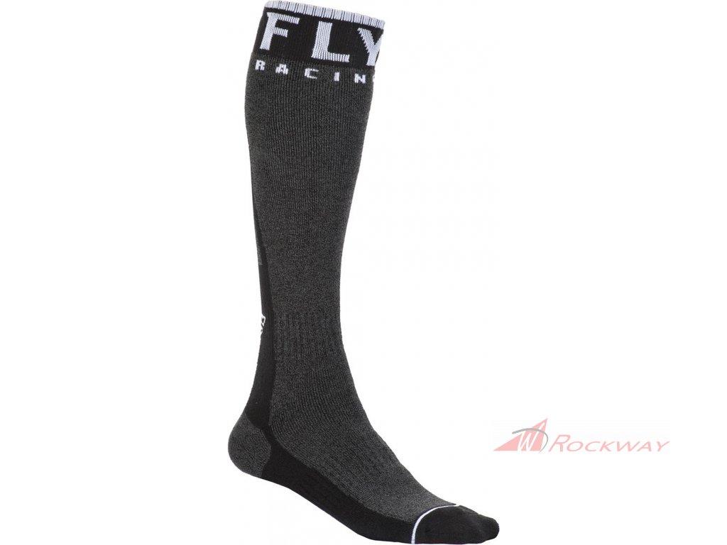 Ponožky dlouhé Knee Brace, FLY RACING (černá/bílá)