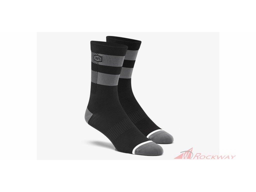 Ponožky FLOW, 100% -USA (černá/šedá)