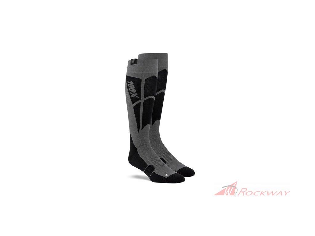 Ponožky TORQUE 100% (černá/šedá)