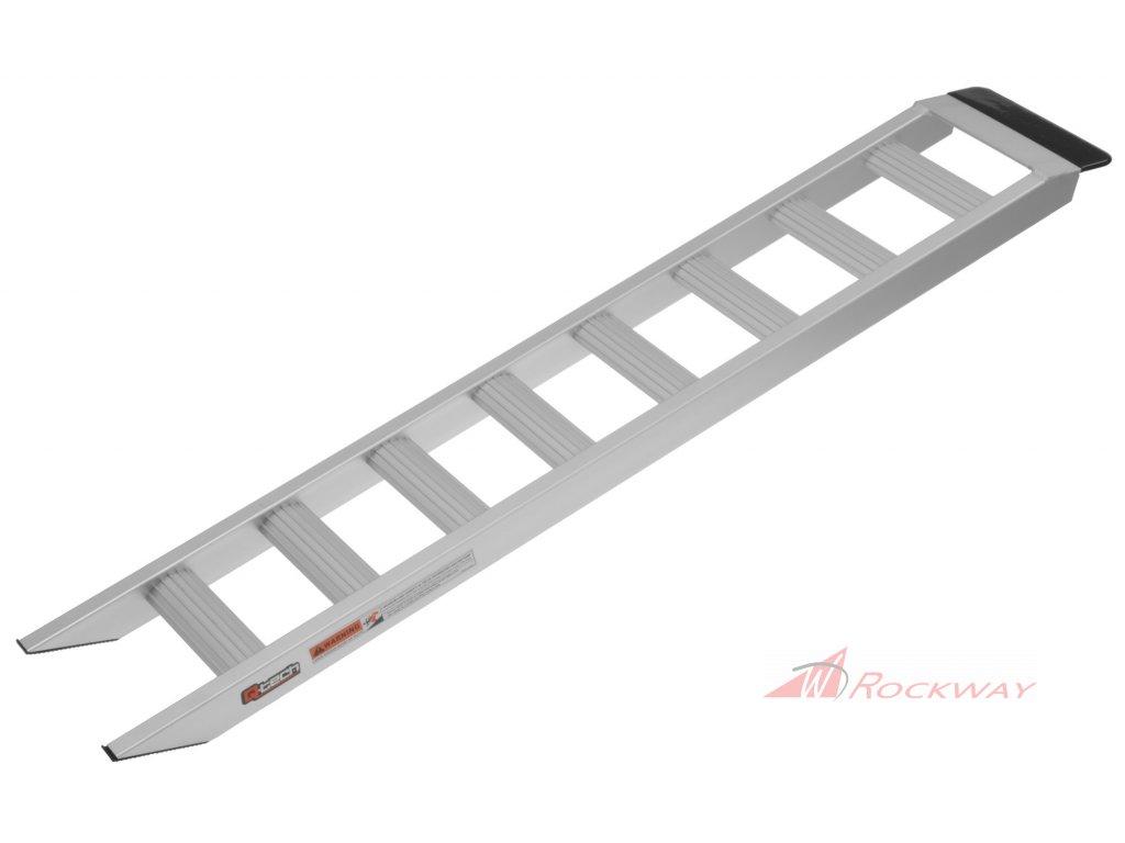 Nájezdová rampa hliníková, Q-TECH (1 ks, stříbrná)