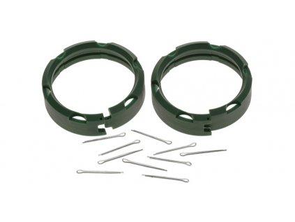 Ochranný kroužek předního tlumiče (pro přední vidlice MARZOCCHI 50 mm), SKF (sada 2 ks vč. závlaček