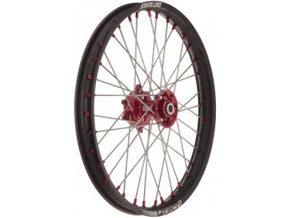 """Přední kolo kompletní (21"""" x 1,6"""") HONDA, Q-TECH (černý ráfek, červený střed)"""