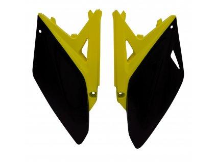 Boční číslové tabulky (Suzuki RM-Z 250 10-16), RTECH (černo-žluté, pár)