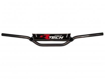 Řídítka ( KTM SX 85) o průměru 22 mm s hrazdou a chráničem, RTECH (černá)