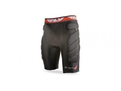 Ochrané kompresní šortky, FLY RACING (černá/červená)