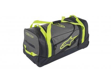 Cestovní taška KOMODO, ALPINESTARS (černá/antracitová/žlutá fluo, objem 150 l)