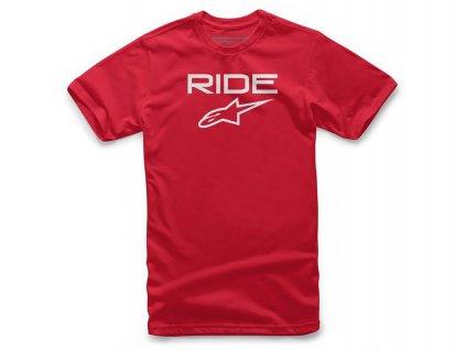 Triko RIDE 2.0 TEE krátký rukáv, ALPINESTARS (červené/bílé)