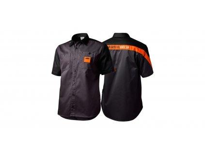 Košile MECHANIC OEM KTM, (černá/oranžová)