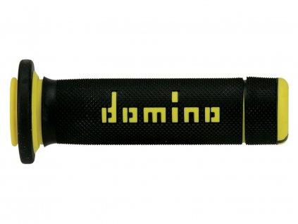 Gripy (ATV) délka 118 + 122 mm, DOMINO (černo-žluté)
