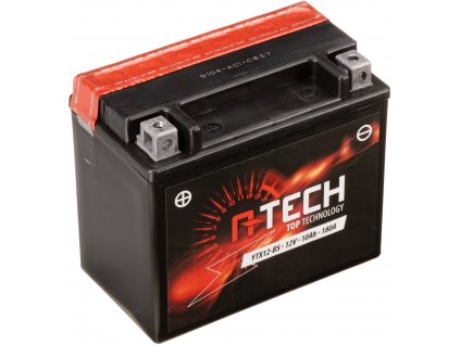 Baterie 12V, YTX12-BS, 10Ah, 180A, bezúdržbová MF AGM 150x87x130 A-TECH (vč. balení elektrolytu)