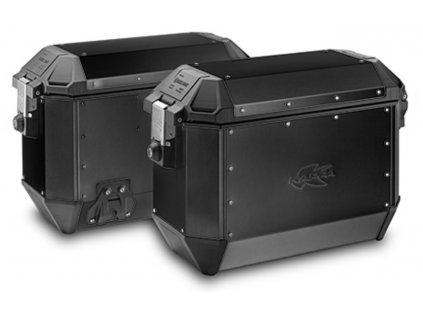 Boční kufry K-VENTURE - 37l, KAPPA (černé, hliník, 49,5x38,7x24,6 cm)