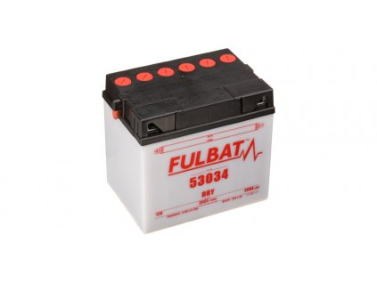 Baterie 12V, 53034, 30Ah, 300A, levá, konvenční 186x130x171, FULBAT (vč. balení elektrolytu)