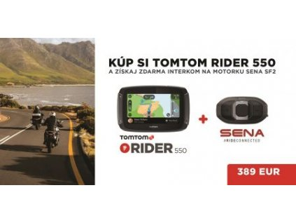 TomTom Rider 550 WORLD + ZDARMA interkom SF2